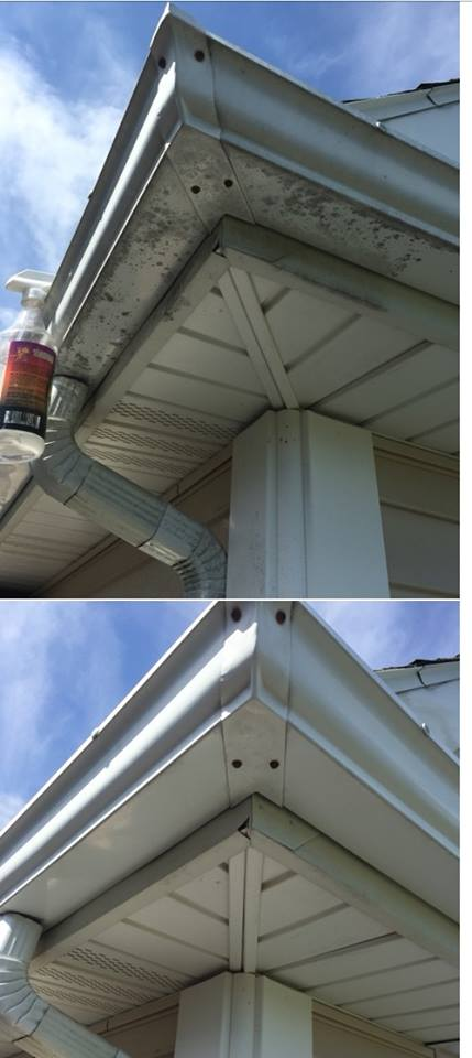 how to clean a spanline gutter