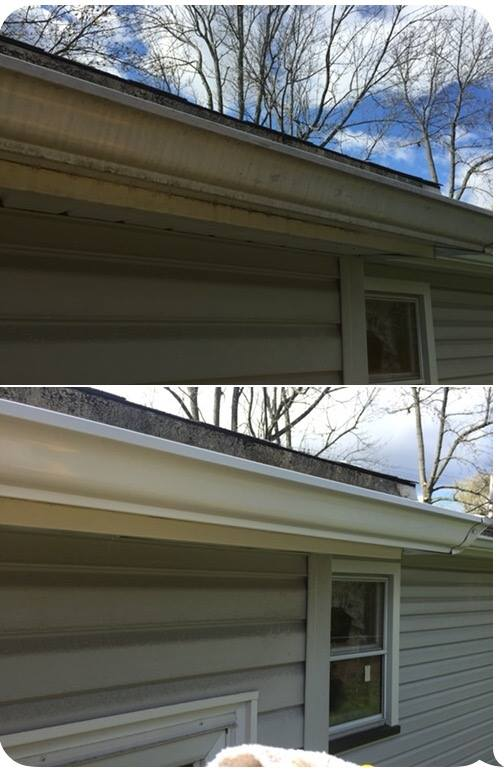 Exterior Gutter Cleaning A Plus Gutter Cleaning